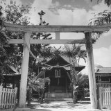 Exterior of Closed Up Japanese Church Photographic Print by Eliot Elisofon