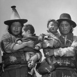 Tibetan Housewives Don't Change Their Headdress at Easter but Follow Ancestral Styles Photographic Print by Mark Kauffman