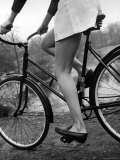 Bicycle Being Ridden by a Typical American Girl Photographic Print by Nina Leen