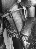 Armor Piercing Hammer Hanging from Belt of a Spanish Suit of Armor Photographic Print by Fritz Goro