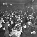 Couples Dancing at the Red Army Club Photographic Print by Thomas D. Mcavoy
