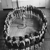 High School Girls Taking Rhythmic Dancing For Body Balance and Control Photographic Print by Alfred Eisenstaedt