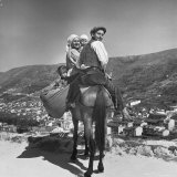 Mountain Family Riding on a Horse Photographic Print by Alfred Eisenstaedt