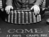 Craps Table Set Up at Town House Gambling Casino Premium Photographic Print by Alfred Eisenstaedt