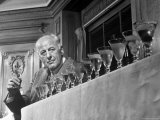 Judge George Anderson, Toasting Fifteen Finalists in Martini Contest Premium Photographic Print by Francis Miller