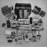 Content's of Country Dr. Ernest Ceriani's Medical Bag Photographie par W. Eugene Smith
