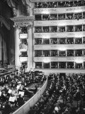 Audience at Performance at La Scala Opera House Premium Photographic Print by Alfred Eisenstaedt