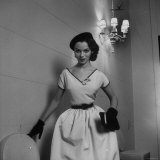 Woman Modeling an Afternoon Dress Photographic Print by Nina Leen