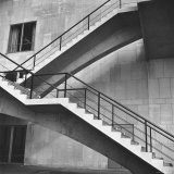 Flying Stairway to Terrace of United Nations' Meeting Hall at Its New East River Headquarters Photographic Print by Walker Evans
