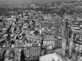 Aerial View of Genoa and Its Harbor Premium Photographic Print by Alfred Eisenstaedt