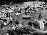 Inner Tube Floating Party on the Apple River Premium Photographic Print by Alfred Eisenstaedt