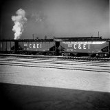 Freight Cars as Seen from Passing Train Photographic Print by Walker Evans