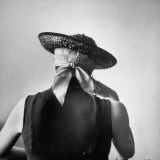 Model Wearing Bandanna Base under Straw Skimmer Photographic Print by Gordon Parks
