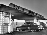 Customers Arriving by Car at Fly in Drive in Theatre Premium Photographic Print by Martha Holmes