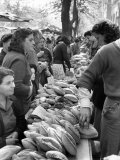 Illegal White Bread For Sale in Black Market Photographic Print by Alfred Eisenstaedt