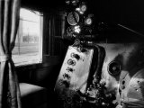 Interior of Class a Steam Locomotive with Fireman's Perch at Norfolk and Western Rail Yard Premium Photographic Print by Walker Evans