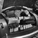 Trunk of Fuller Brush Co. Salesman's Car is Stocked with Product Photographic Print by Alfred Eisenstaedt