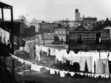Clothes Lines Hung with Laundry in the Slums of Chicago Premium Photographic Print by Gordon Coster