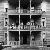 Family on Balcony of Apartment Building Photographic Print by Gordon Parks