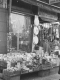 City Hall Hardware Store, with Wares on Sidewalk Premium Photographic Print by Walker Evans