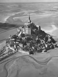 Aerial View of Mont Ste. Michel Monastery Premium Photographic Print by Nat Farbman
