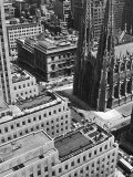 Looking Down on Saint Patrick's Cathedral, New York City Premium Photographic Print by Alfred Eisenstaedt