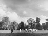 Eton College Students Playing Rugby on the Playing Fields at the School Premium Photographic Print by Margaret Bourke-White