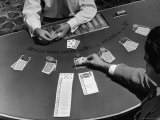Blackjack is a Moneymaking Gambling Game in the Gambling Halls Photographic Print by J. R. Eyerman
