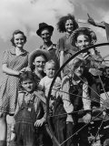 Group Portrait of a Farmer and His Family Premium Photographic Print by Alfred Eisenstaedt