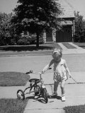 Child Playing with Tricycle Premium Photographic Print by Alfred Eisenstaedt