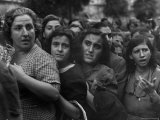 Hungry Italians Waiting For Their Bread Allotment Following Allied Takeover of Naples During WWII Photographic Print by George Rodger