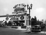 Exterior of the Hartford Rent a Car Lot Photographic Print by Alfred Eisenstaedt