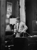 Attorney General Robert F. Kennedy, Talking on the Telephone in His Office Reproduction photographique sur papier de qualité par George Silk
