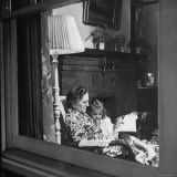 Grandma Wulzen Reading a Story to Her Granddaughter Nancy Jo Photographic Print by Alfred Eisenstaedt