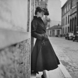Woman Modeling a Back Flared Skirt Photographic Print by Gordon Parks
