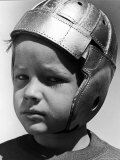 Jim Petersen, 8, Plays Football in the Young America League For Kids Premium Photographic Print by Alfred Eisenstaedt