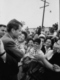 Attorney General Robert F. Kennedy Greeting Supporters Premium Photographic Print by George Silk