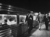 Commuters on the New Haven Line Premium Photographic Print by Alfred Eisenstaedt