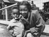 African American Mother and Son Premium Photographic Print by Gordon Coster