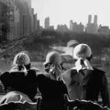 Girls Wearing Bandannas, Looking Out over Central Park Photographic Print by Gordon Parks