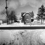 House in the Country, as Seen from Train Window Photographic Print by Walker Evans