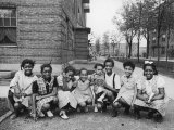 African American Girls Posing on the South Side of Chicago Premium Photographic Print by Gordon Coster