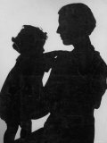 Good Silhouette of a Mother and Child Premium Photographic Print