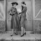 Women Modeling Spring Dresses Photographic Print by Gordon Parks