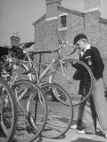Bicycle Shops Premium Photographic Print by William Sumits