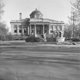 Exterior of Carnegie Public Library Photographic Print by Walker Evans