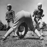 Boys Playing Midget Football in the Young America League Photographic Print by Alfred Eisenstaedt