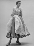Lace Ball Gown, Designed by Hubert de Givenchy Premium Photographic Print by Nat Farbman