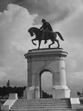 Arched Monument with Equestrian Statue of Sam Houston Premium Photographic Print by Alfred Eisenstaedt