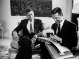 John Kennedy and Robert McNamara in NYC Prior to Kennedy's Inauguration Photographic Print by Alfred Eisenstaedt